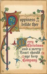 HAPPINESS BETIDE THEE