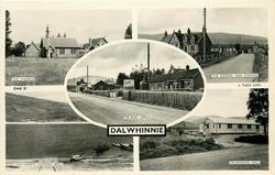 5 insets THE CHURCH/THE SCHOOL AND STATION/THE POST OFFICE/LOCH ERIGHT LOOKING WEST/DALWHINNIE HALL