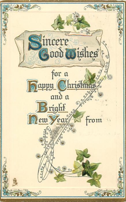 SINCERE GOOD WISHES