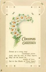 CHRISTMAS GREETINGS  daises