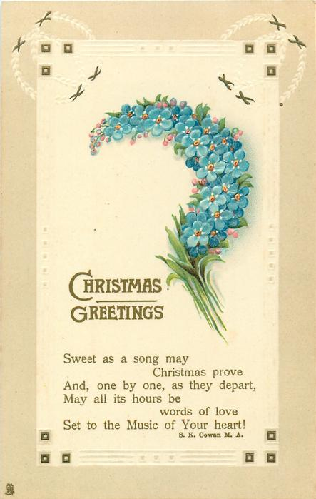 CHRISTMAS GREETINGS  forget-me-nots