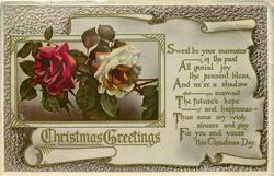 CHRISTMAS GREETINGS  roses