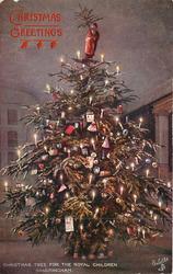 CHRISTMAS TREE FOR THE ROYAL CHILDREN, SANDRINGHAM