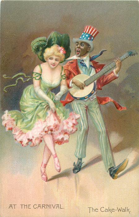 THE CAKE WALK  woman dances with banjo player