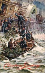 boatmen delivering holly to ship
