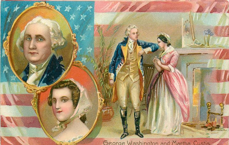 GEORGE WASHINGTON AND MARTHA CUSTIS
