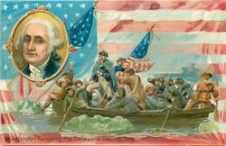 WASHINGTON CROSSING THE DELAWARE, DEC. 25, 1776