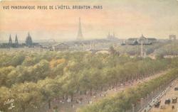 VUE PANORAMIQUE PRISE DE L'HOTEL BRIGHTON, PARIS