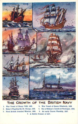 THE GROWTH OF THE BRITISH NAVY