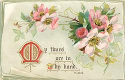 MY TIMES ARE IN THY HAND  dog-roses
