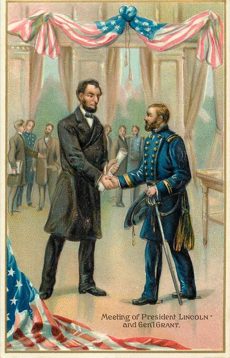 MEETING OF PRESIDENT LINCOLN AND GEN'L GRANT