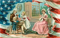 WASHINGTON'S  HOME LIFE AT MOUNT VERNON