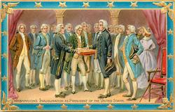 WASHINGTON'S INAUGURATION AS PRESIDENT OF THE UNITED STATES