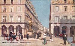 STATUE DE JEANNE D'ARC & LA RUE DES PYRAMIDES