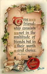 A HAPPY XMAS greetings (in seal)