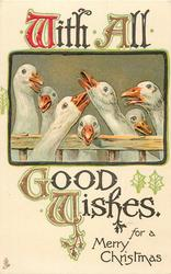 WITH ALL GOOD WISHES FOR A MERRY CHRISTMAS  geese