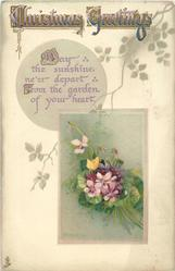 CHRISTMAS GREETINGS  bunch of violets