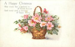 A  HAPPY CHRISTMAS  roses