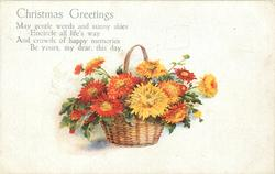 CHRISTMAS GREETINGS  chrysanthemums