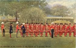 INSPECTION OF THE YEOMEN OF THE GUARD AT ST JAMES PALACE