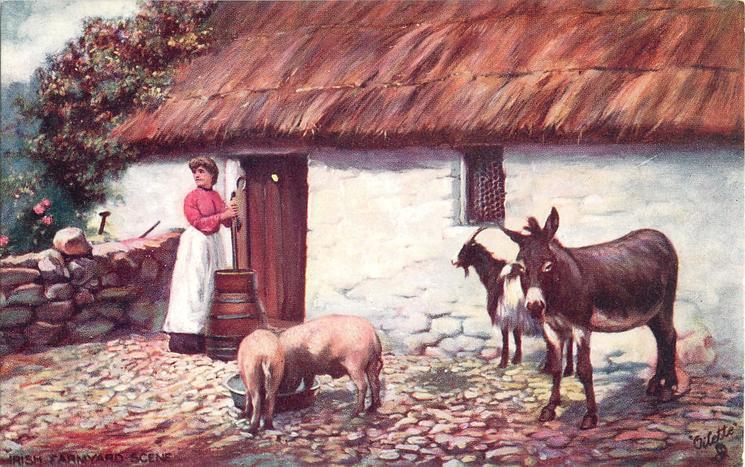 IRISH FARMYARD SCENE