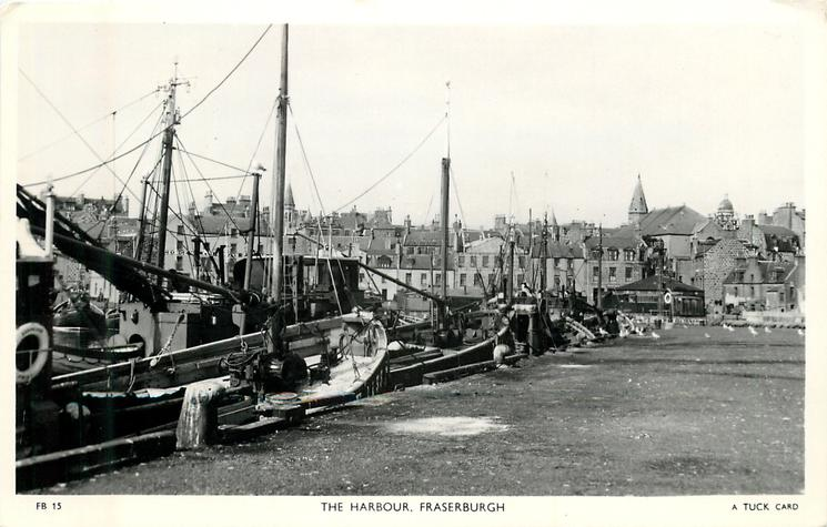 THE HARBOUR boats on left