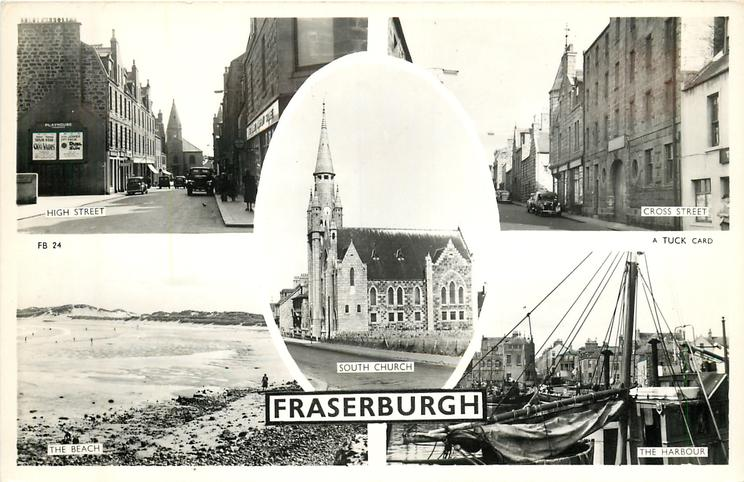 5 insets HIGH STREET/CROSS STREET/SOUTH CHURCH/THE BEACH/ THE HARBOUR