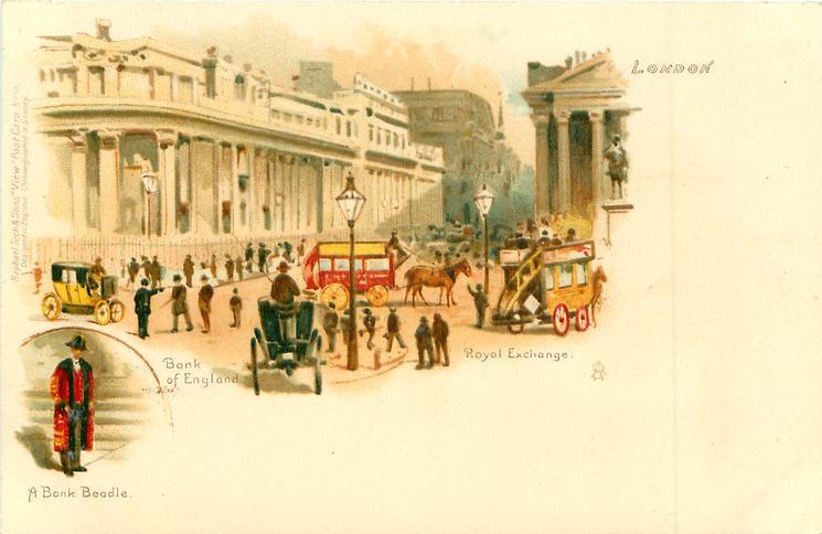 BANK OF ENGLAND, ROYAL EXCHANGE inset A BANK BEADLE