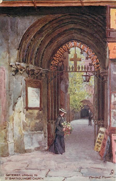 GATEWAY, LEADING TO ST. BARTHOLOMEW'S CHURCH