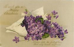 TO WISH YOU A HAPPY CHRISTMAS   violets