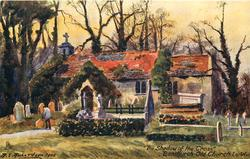 """""""THE SHADOW OF THE CROSS,"""" BONCHURCH OLD CHURCH"""