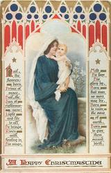A HAPPY CHRISTMASTIDE  Madonna & Child on lap