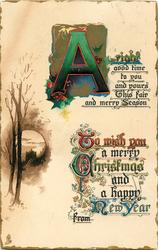 A RIGHTGOOD TIME TO YOU AND YOURS THIS FAIR AND MERRY SEASON....  rural inset