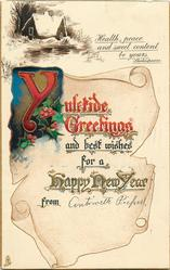 YULETIDE GREETINGS  rural inset