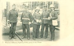 WARRANT OFFICERS, FIGHTING FIFTH, GOING TO THE FRONT
