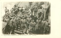 "ROYAL ARMY MEDICAL CORPS FOR THE CAPE ON S.S. ""GUELPH"""