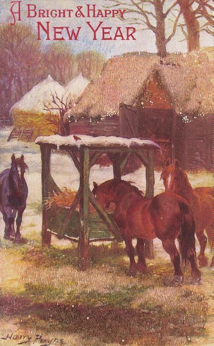 THE FARMYARD IN WINTER