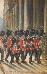 """THE BANK GUARD"", THE COLDSTREAM GUARDS ENTERING THE BANK...FOR GUARD DUTIES"