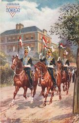 THE DESPATCH ORDERLIES, (21ST LANCERS),  PASSING MARLBOROUGH HOUSE