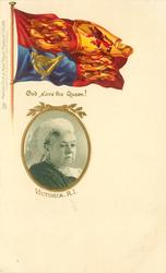 VICTORIA ,R.I.,GOD SAVE THE QUEEN  with or w/o SOUVENIR 1900, portrait looking right (W. & D. DOWNEY)