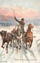 SLEIGHING ACROSS COUNTRY