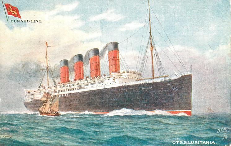 Q.T.S.S. LUSITANIA  port side
