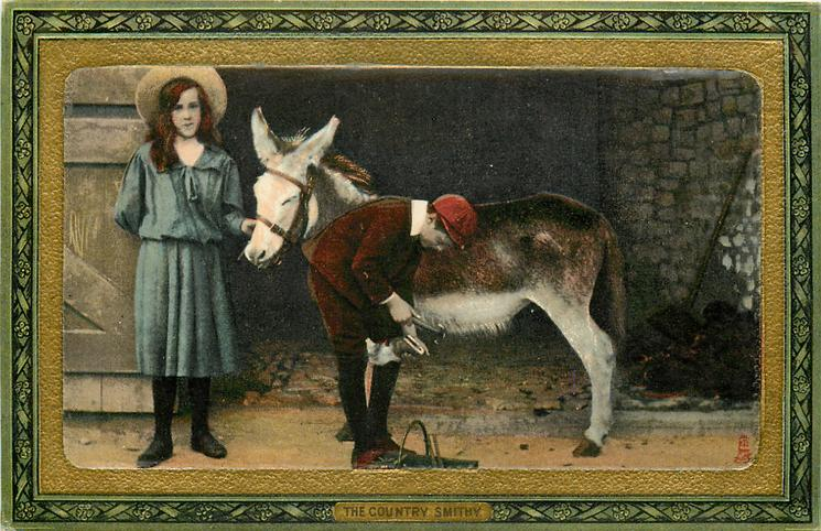 THE COUNTRY SMITHY  donkey