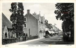LYNCHFIELD ROAD houses on left, trees right