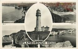 5 insets FLAMBOROUGH HEAD/NORTH LANDING/THE LIGHTHOUSE/BIG AND LITTLE STACKS/SILEX BAY