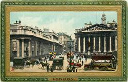 THE BANK OF ENGLAND AND ROYAL EXCHANGE