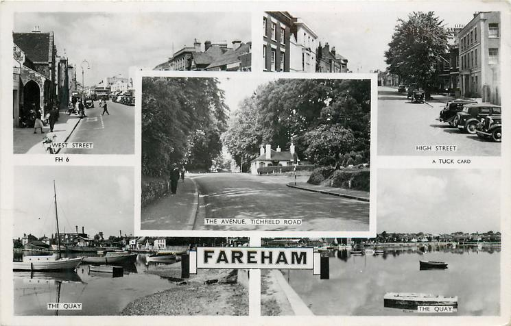 5 insets  WEST STREET/HIGH STREET/THE AVENUE, TICHFIELD ROAD/THE QUAY/THE QUAY