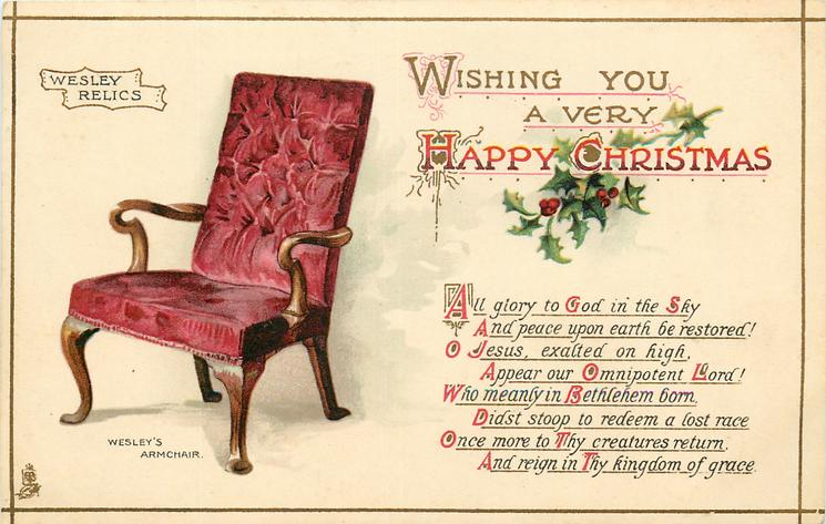 WISHING YOU A VERY HAPPY CHRISTMAS chair