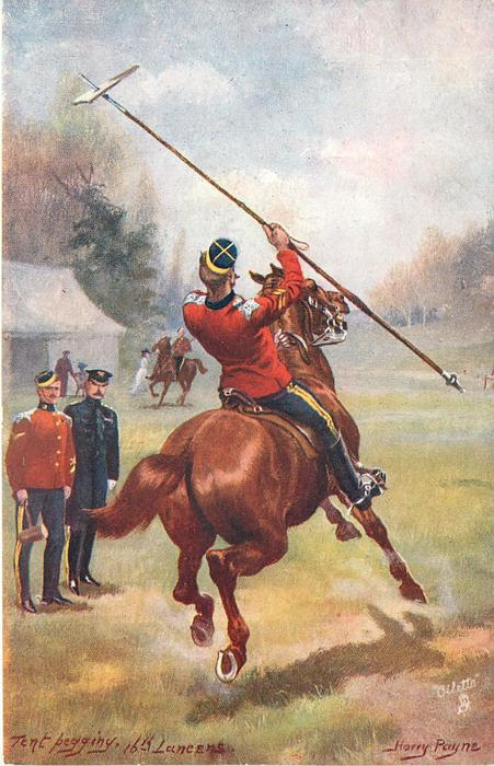 TENT PEGGING,16TH LANCERS