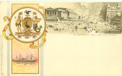 ST. GEORGE'S HALL AND LIME STREET